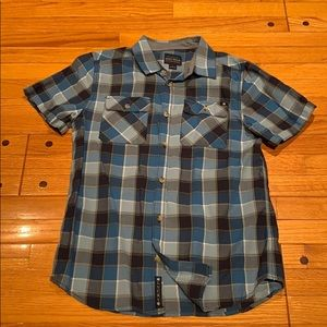 Lucky youth size L Blue plaid shirt